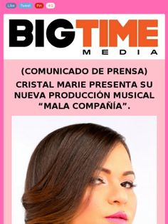 #pressrelease @cristalmarietv @Cristal Guerrero presente su nuevo album #MALACOMPANIA @BIGTIMEMEDIA