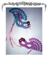 Free Crochet Pattern - Mask and Fan Applique
