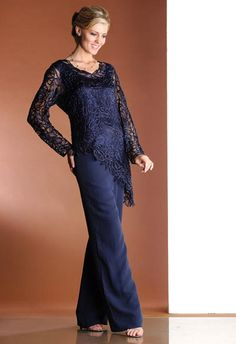 Pantsuit. This color. if nothing in navy; then I'd rather her be gray. Plus, this one seems that it comes in her size, but I don't know her size. (From French Novelty.) ~KMW
