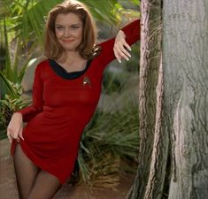 """Emily Banks as Yeoman Tonia Barrows """"the temptress"""" from the Star Trek(TOS)episode """"Shore Leave""""."""