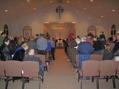 Worshipping on Christmas eve