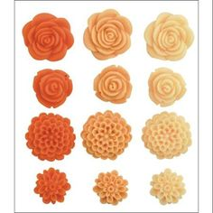 Blossoms Dimensional Resin Flowers 12/Pkg-Dahlia