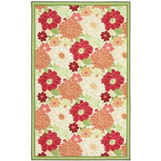 I dislike Walmart, but I saw this outdoor rug in a florist's shop, and instantly thought craft room (to protect the carpet from paint, glue, etc), or little girl's room. 5x8 for $59 isn't bad either...