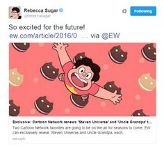 STEVEN UNIVERSE HAS BEEN RENEWED AND WILL HAVE AT LEAST 5 SEASONS. THIS IS 100% LEGIT.