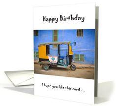 Tuk Tuk funny birthday card