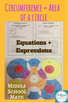 Circle Coloring Activity Area Circumference Of A Circle