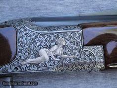 Engraving Tools, Metal Engraving, Gun Art, Shooting Guns, Custom Guns, Hunting Rifles, Firearms, Shotguns, Guns And Ammo