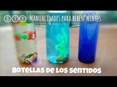 DIY ✿ Botellas sensoriales | sensory bottles. Manualidades para bebés o niñ@s pequeños - YouTube