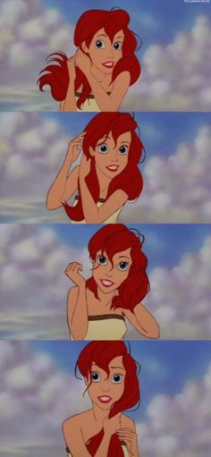 The Little Mermaid definitely had the best hair of all the disney princesses