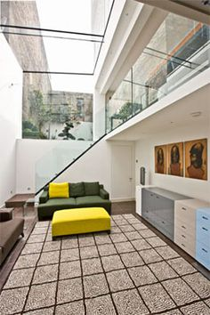 Trombé :: Contemporary Modern Conservatories and Conservatory Design London :: Structural Glazing Modern Conservatory, Conservatories, Skylight, Modern Contemporary, Facade, Basement, Stairs, House Design, Dreams