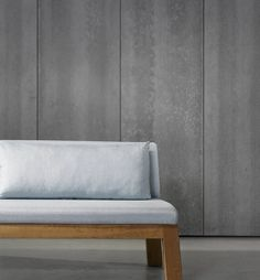 Create an industrial feel with concrete-effect wallpaper