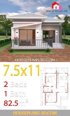 House Plans with Hip Roof. 19 House Plans with Hip Roof. House Plans with 3 Bedrooms Hip Roof Small House Layout, Small House Design, House Layouts, 3d House Plans, Small House Plans, Home Building Design, Home Design Plans, Small Cottage Designs, Casa Top