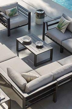 Hallway Tables, Patio Design, House Design, Outdoor Lounge, Outdoor Decor, Interior Decorating, Interior Design, My Dream Home, Building A House