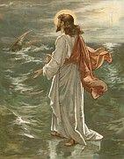 Jesus Paintings - Christ Walking on The Waters by John Lawson