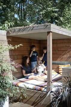 exterior backyard corner nook - Google Search