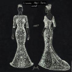 Купить Свадебное платье из Ирландского Кружева Annoralace - белый, цветочный, ирландское кружево, ирландское вязание
