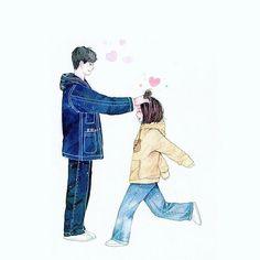 致我們單純的小美好・A Love So Beautiful fanart Cute Couple Wallpaper, Love Wallpaper, Trendy Wallpaper, Beautiful Wallpaper, Cute Couple Art, Anime Love Couple, Anime Couples, Cute Couples, Anime Love Story