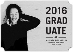 This simple approach to graduation announcements is perfect for the minimalist in your life. Customize with your own photo to make it yours.