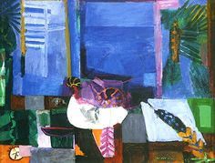 """Bruno Cassinari (Italian, 1912-1992) - """"Natura morta, o Finestra sul mare"""" (Still life, or Window by the sea), 1953 - Oil on canvas - Galleria Ricci Oddi, Piacenza (Italy)"""