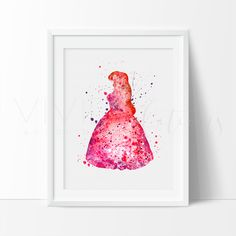Disney Little Mermaid Ariel Princess Nursery Art Print