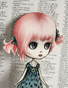 mab graves paper art doll-Pinky