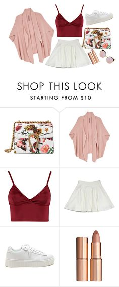 """""""Simply Girly"""" by dinyvia on Polyvore featuring Gucci, Melissa McCarthy Seven7, Lipsy, Milly, Charlotte Tilbury, Fendi and plus size clothing"""