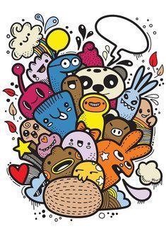 Cute Doodle Art, Cool Doodles, Doodle Art Designs, Doodle Art Drawing, Kawaii Doodles, Cute Art, Doodle Wall, Art Drawings Sketches Simple, Easy Drawings