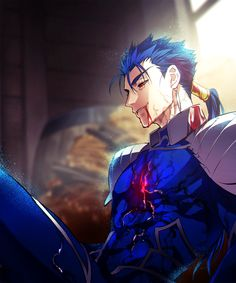 Fate/ stay night, Cu Culain. The general role of a lancer is to be a bro, and get screwed over