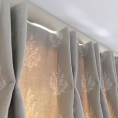 Two prong pleat - Curtains handmade by Victoria Clark Interiors