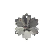 Chinese Crystal 27mm Flower Pendant, Silver