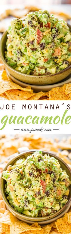 Joe Montana's Touchdown Guacamole - Truly the best guacamole I've ever had, just amazing. Bold delicious flavors, just what you need to enjoy the game. Appetizer Dips, Appetizer Recipes, Mexican Dishes, Mexican Food Recipes, Mexican Finger Foods, Mexican Chips, Mexican Snacks, Mexican Appetizers, Crab Recipes