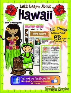 Hawaii State Unit Study - Geography, State Symbols & Facts, coloring pages Hawaiian Names, Hawaiian Theme, Writing Practice Worksheets, Worksheets For Kids, Hawaiian Words And Meanings, Hula Music, Culture Day, State Crafts, Felt Board Stories