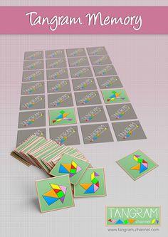 Tangram Memory Game Printables - Providing teachers and pupils with tangram activities Tangram Printable, Printable Templates, Free Printable, Learning Activities, Kids Learning, Tangram Puzzles, Curious Kids, Learning Shapes, Memory Games