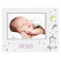 Personalised Baby Unicorn Box Photo Frame Add a splash of magic to your home with this Personalised Baby Unicorn Box Photo Frame. The frame can be personalised with a line of text of up to 20 characters Baby Unicorn, Unicorn Gifts, Gifts For Girls, Gifts For Her, Glitter Frame, Unicorns And Mermaids, Name Day, Online Gifts, Personalized Baby