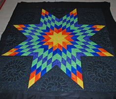 lone star--quilting idea....  See also www.jankrentz.com/download/lone_star_calculations.pdf