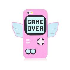 iPhone 6/6S Game Over Silicone Case ($35) ❤ liked on Polyvore featuring accessories, tech accessories, cases, phone case, phones and fillers