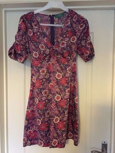Boohoo flower pattern pink and lilac vintage style short sleeve dress size 12 in Clothes, Shoes & Accessories, Women's Clothing, Dresses | eBay #ebay #vintage #size12 #size12dress #vinted #sixties #retro