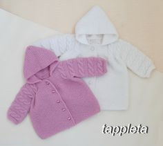 elegant jacket hooded for baby 0-18 months 1year by tappleta