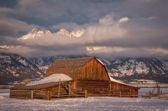 """Earlier this year I visited the Grand Tetons- this particular morning, I remember driving into the park and right as the Tetons came into view screaming,…"""
