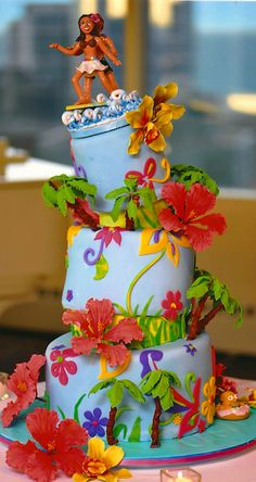 Luau Cakes Amp Tiki Treats On Pinterest