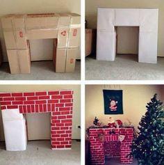 How to make a Cardboard Fireplace