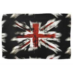 British Flag Hand Towels #BritishFlag #Britain #Towel