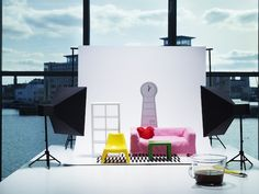 Mini IKEA furniture -- the HUSET range (available from August 2013). I'm about 28 years too old for such things, but yes please.   | via Your Home is Lovely: interiors on a budget