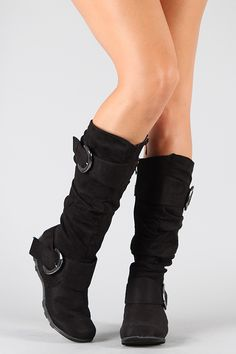 Best-79 Buckle Slouchy Knee High Boot...I had a similar pair for years and loved them to pieces!