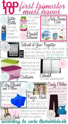 The Bubblelush: Top 10 First Trimester Must Haves