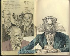 Sketchbook pages from Rich Kelly