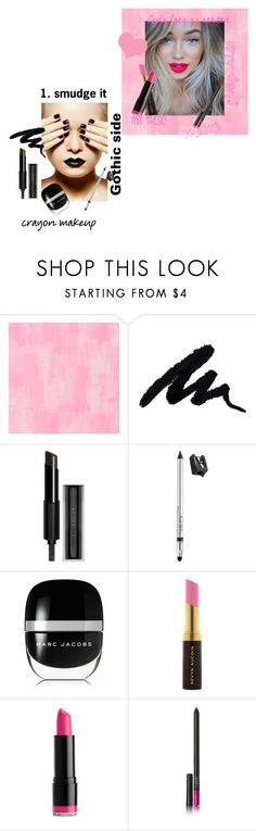 """""""Gothic vs. Girly lipstick"""" by aesthetic-craze ❤ liked on Polyvore featuring beauty, Designers Guild, Givenchy, Trish McEvoy, Marc Jacobs, Kevyn Aucoin, NYX and NARS Cosmetics"""
