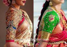 Peacock Maggam Work Blouse Designs For Silk Sarees – South India Fashion Bridal Silk Saree, Silk Sarees, Maggam Work Designs, Pattu Saree Blouse Designs, Peacock Design, Work Blouse, Embroidered Blouse, India Fashion, Sari