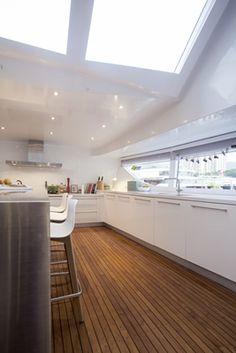 Interior design - yacht kitchen