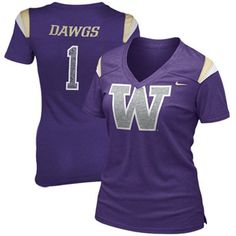 Nike Washington Huskies Ladies Replica Premium T-Shirt - Purple #Fanatics #PinForPresents